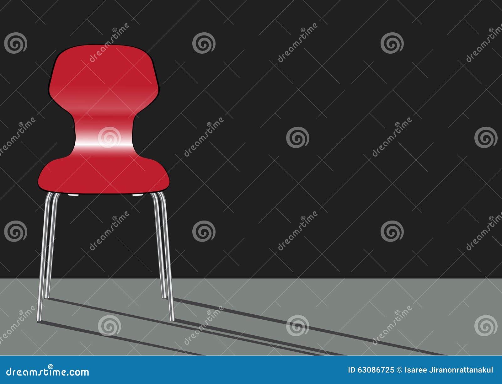 Download Chaise Rouge Sur Les Milieux Gris Illustration Stock - Illustration du selles, reposez: 63086725