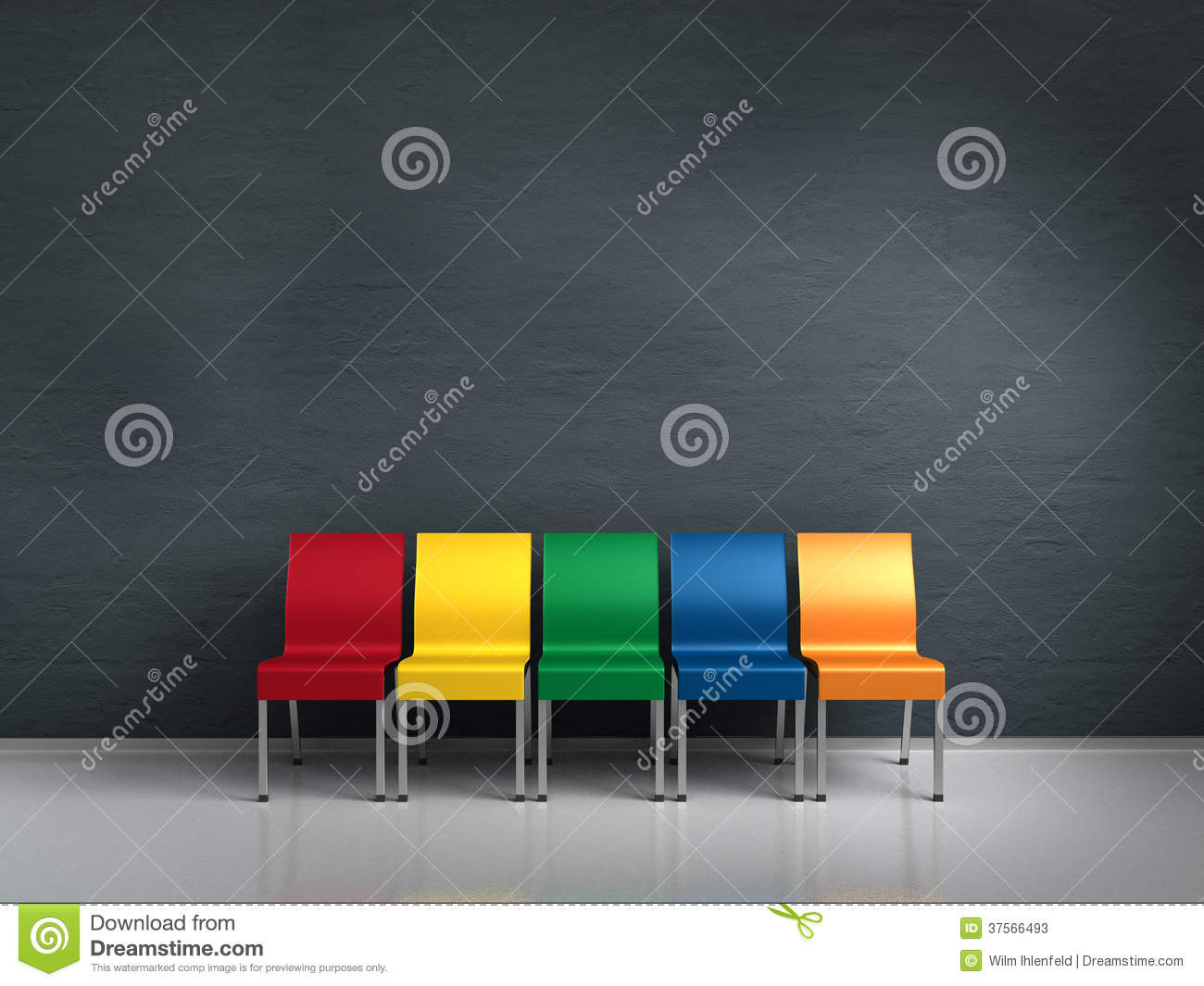 Chaises color es photos stock image 37566493 for Chaises colorees