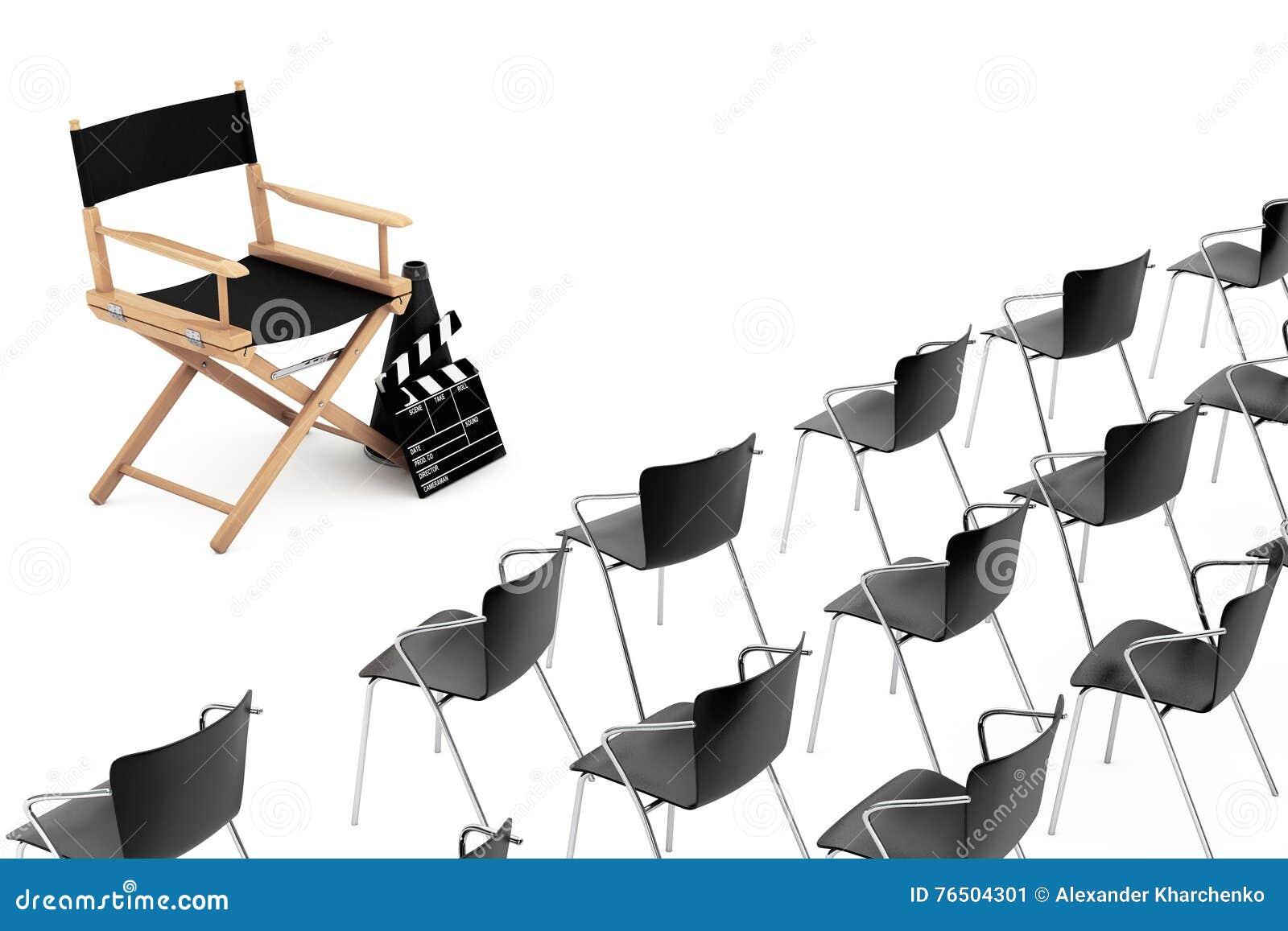 Chaises De Bureau Devant Directeur Chair Clapet A De Cinema De Film