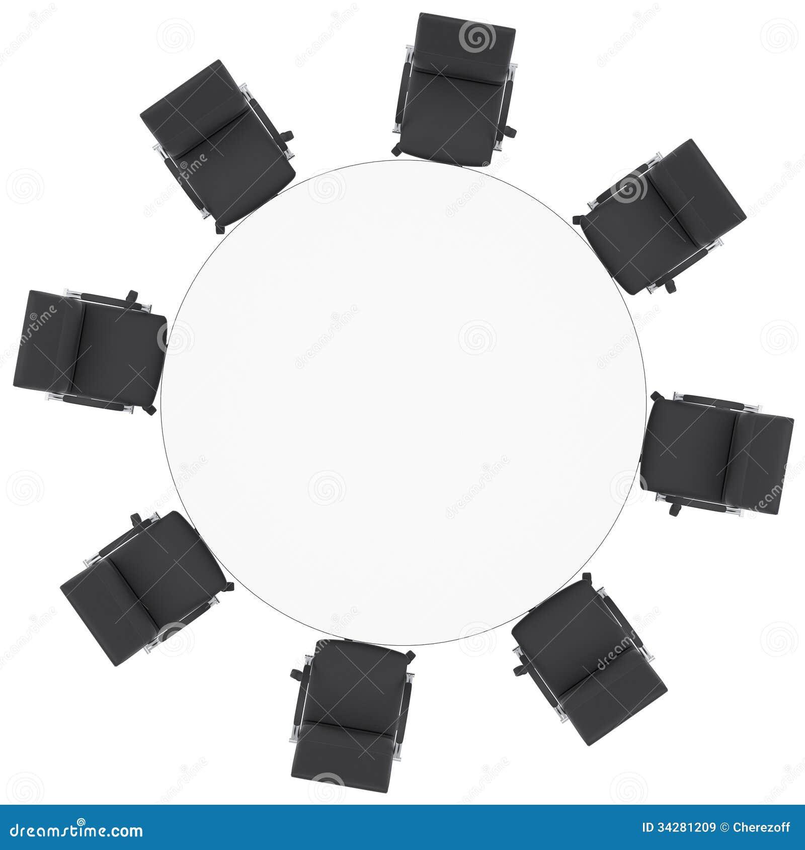 Bureau Chaises Ronde Et Table Illustration De Stock Yfbg76y