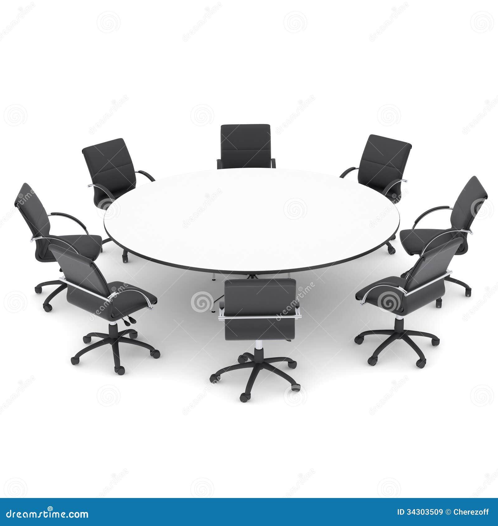 Chaises De Bureau Et Table Ronde