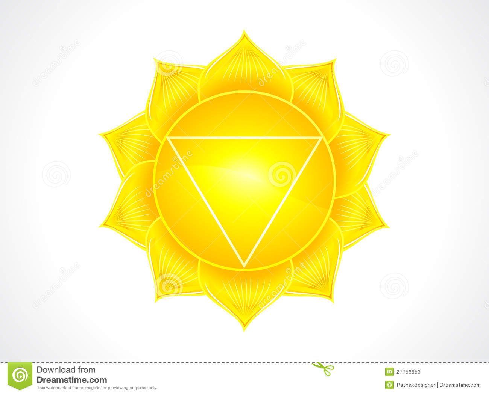 Chakra détaillé de plexus solaire