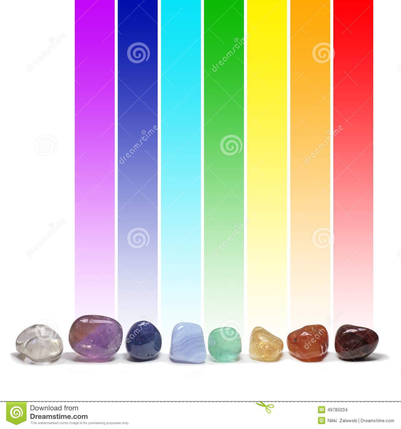 Chakra healing crystals color chart stock illustration chakra healing crystals and their colors stock images geenschuldenfo Images