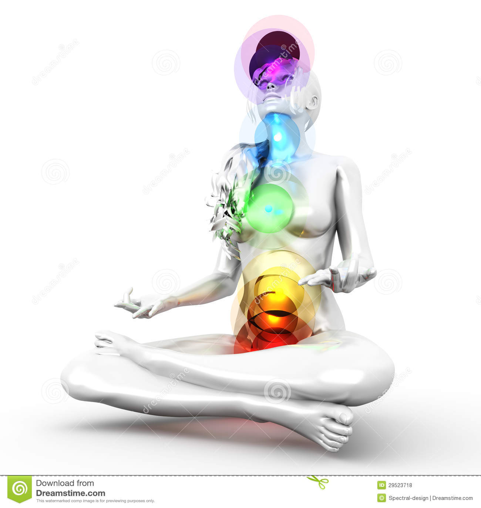 Chakra Meditation Royalty Free Stock Photos Image 29523718