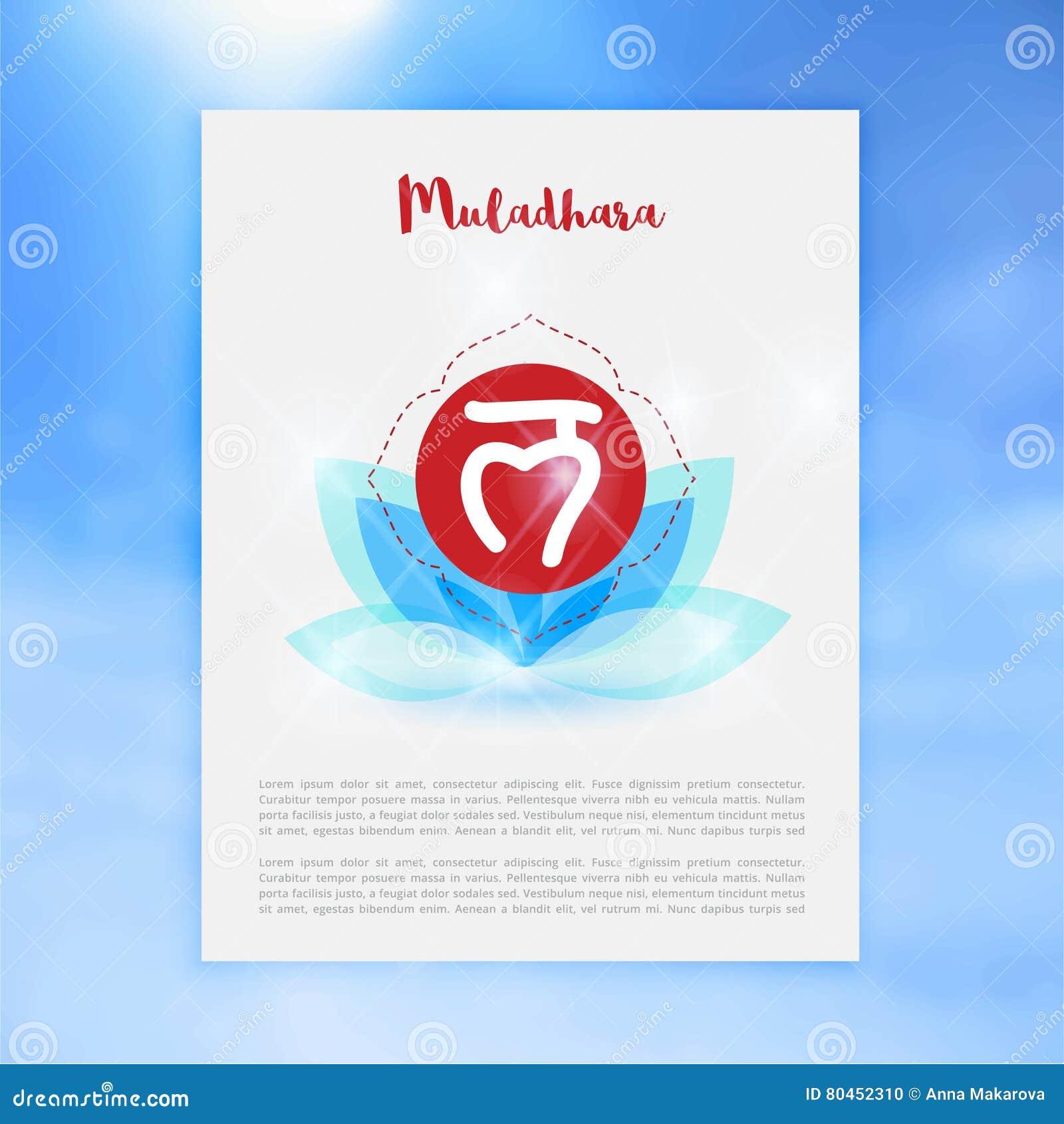 Chakra Muladhara Or Root Icon, Ayurvedic Symbol, Concept