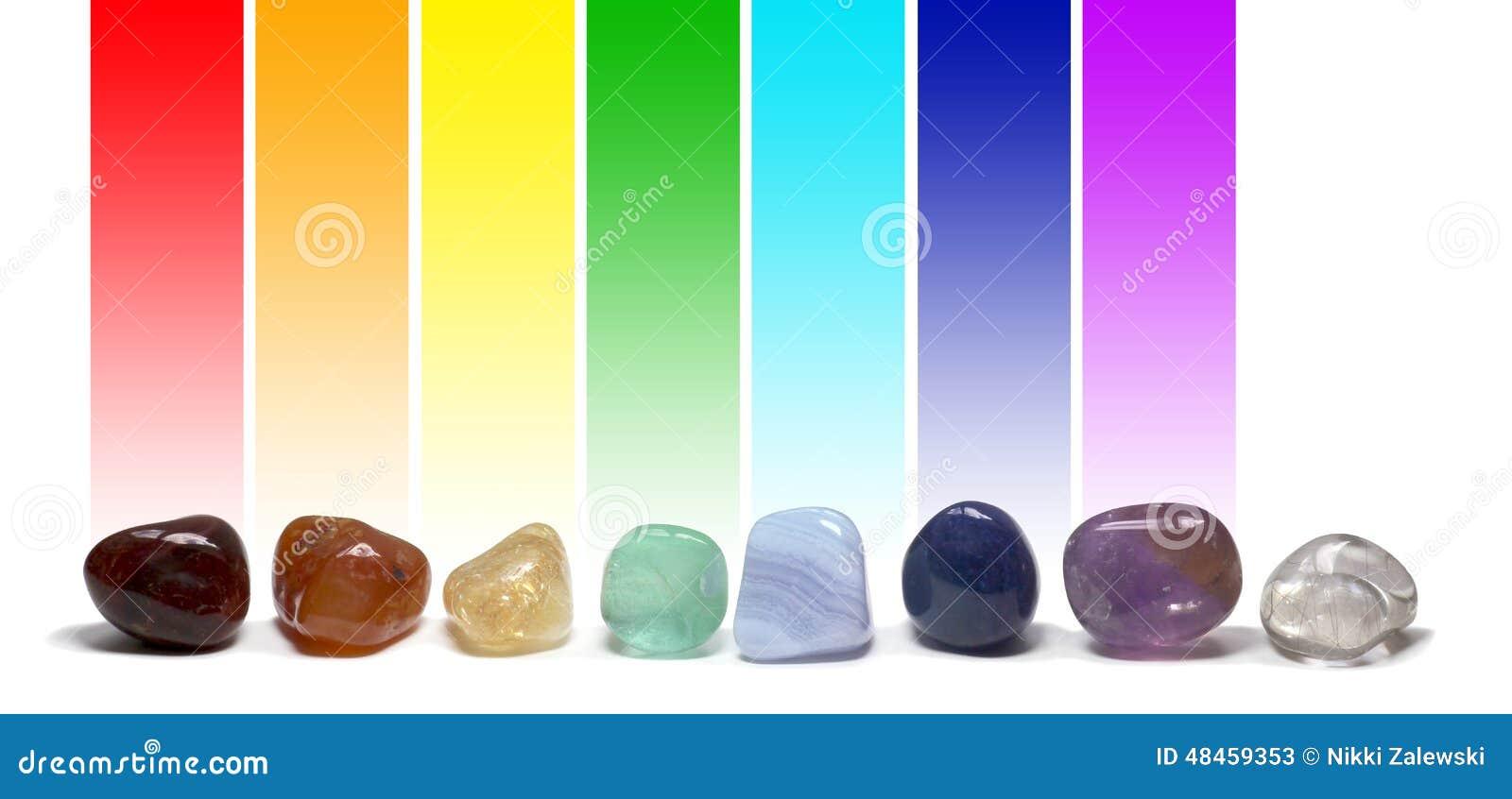 Chakra som läker kristallfärgdiagrammet