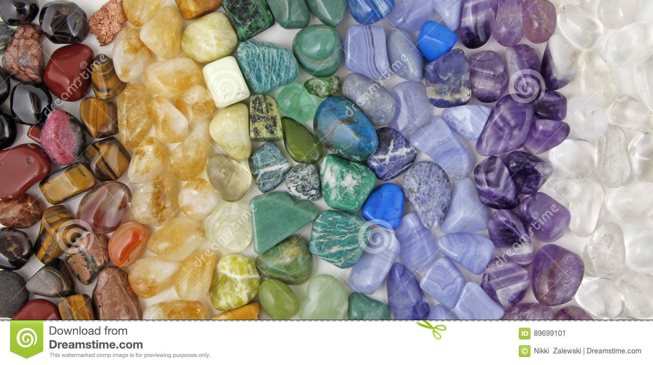 Download Chakra Tumbled Healing Stones Crsytal Healing Background Stock Image - Image of background, coloured: 89699101
