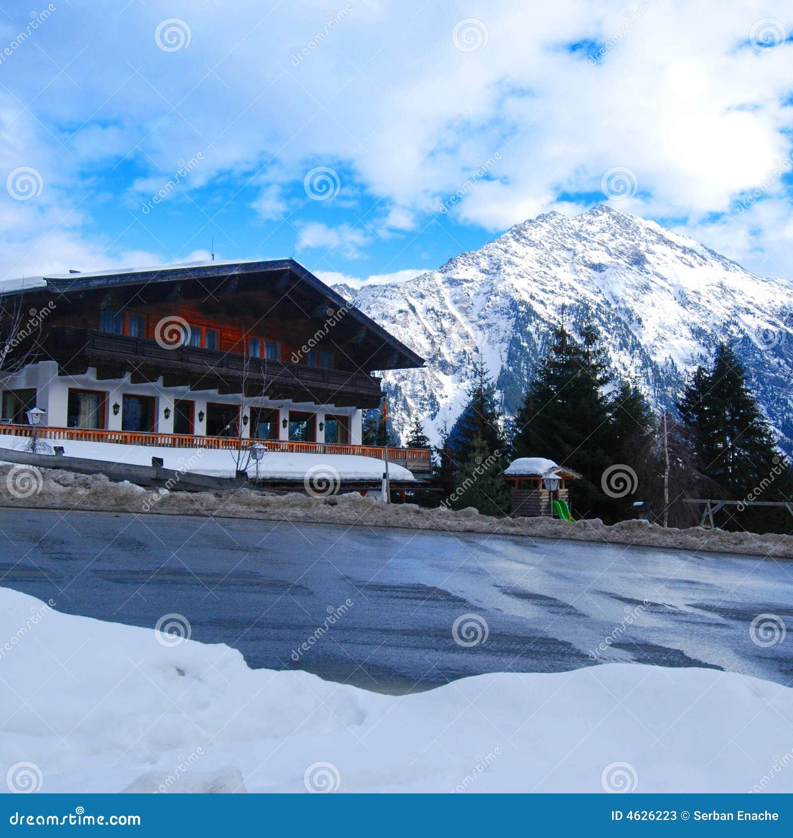 Chalé do esqui