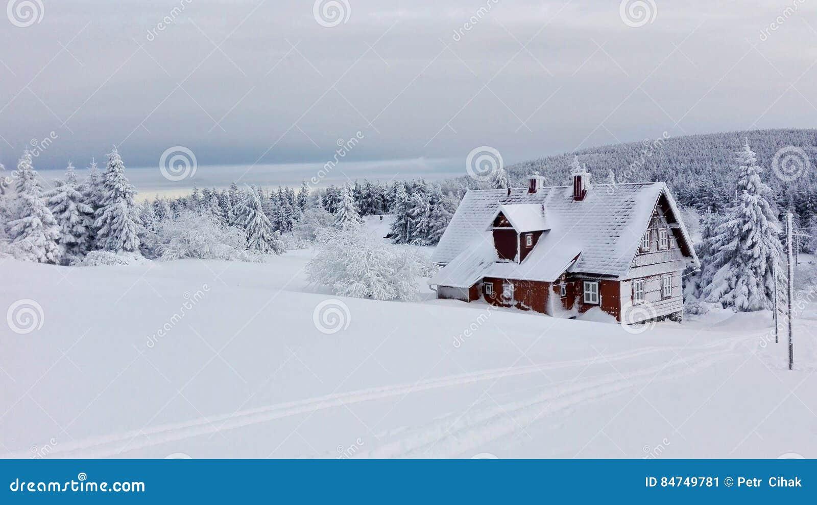 Chalé nevado