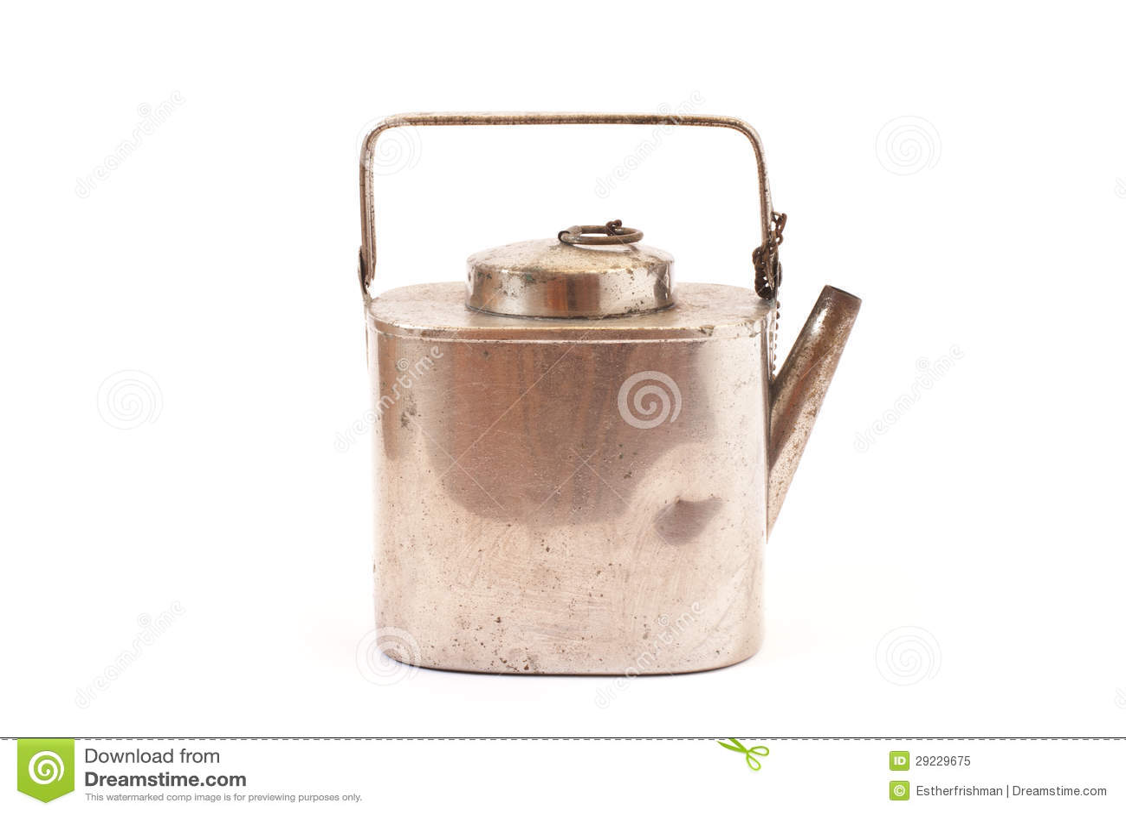 Download Chaleira de prata antiga imagem de stock. Imagem de retro - 29229675