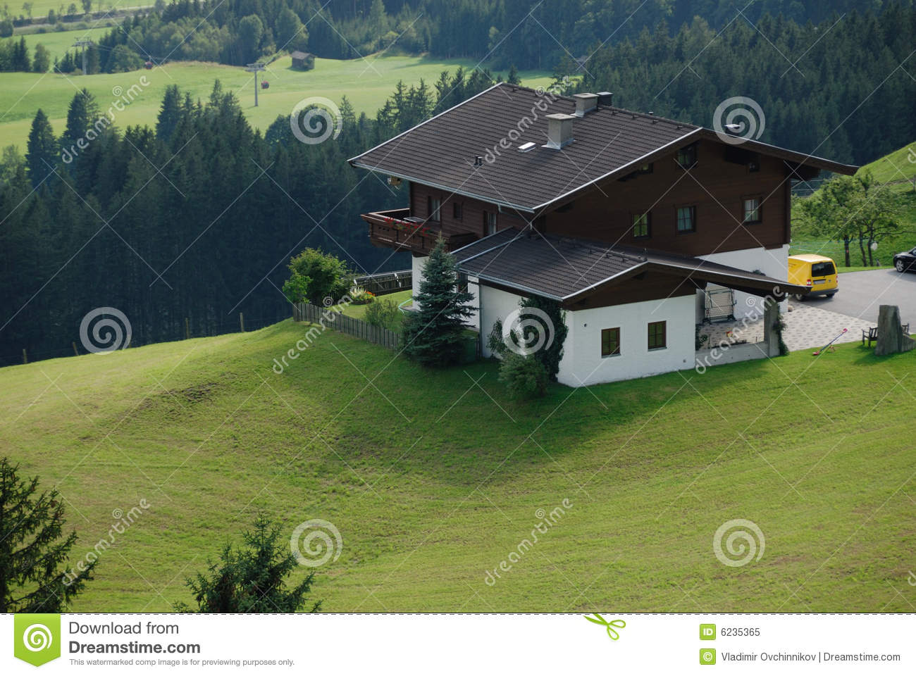 Chalet in Alps