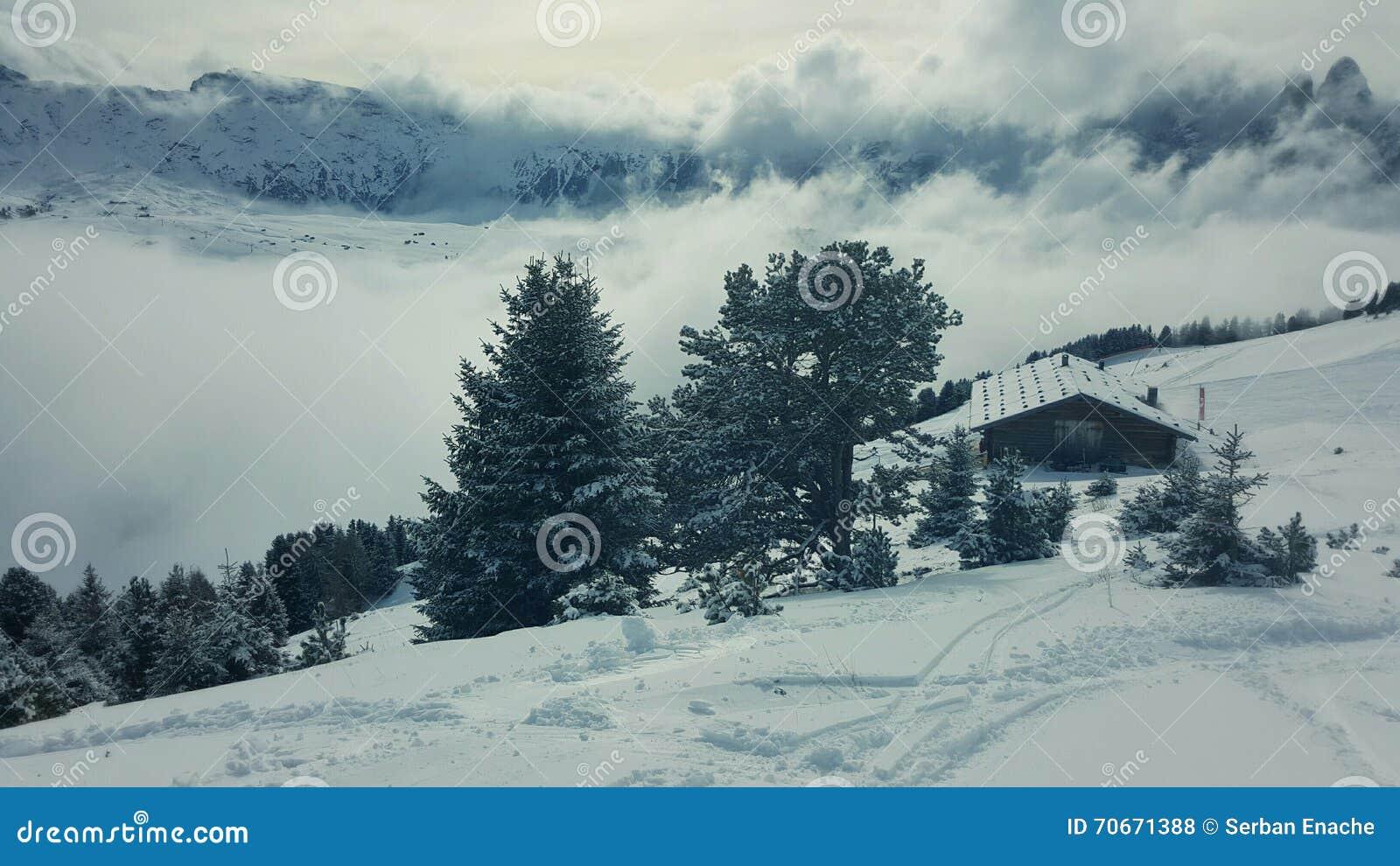 Chalet in de Dolomietalpen