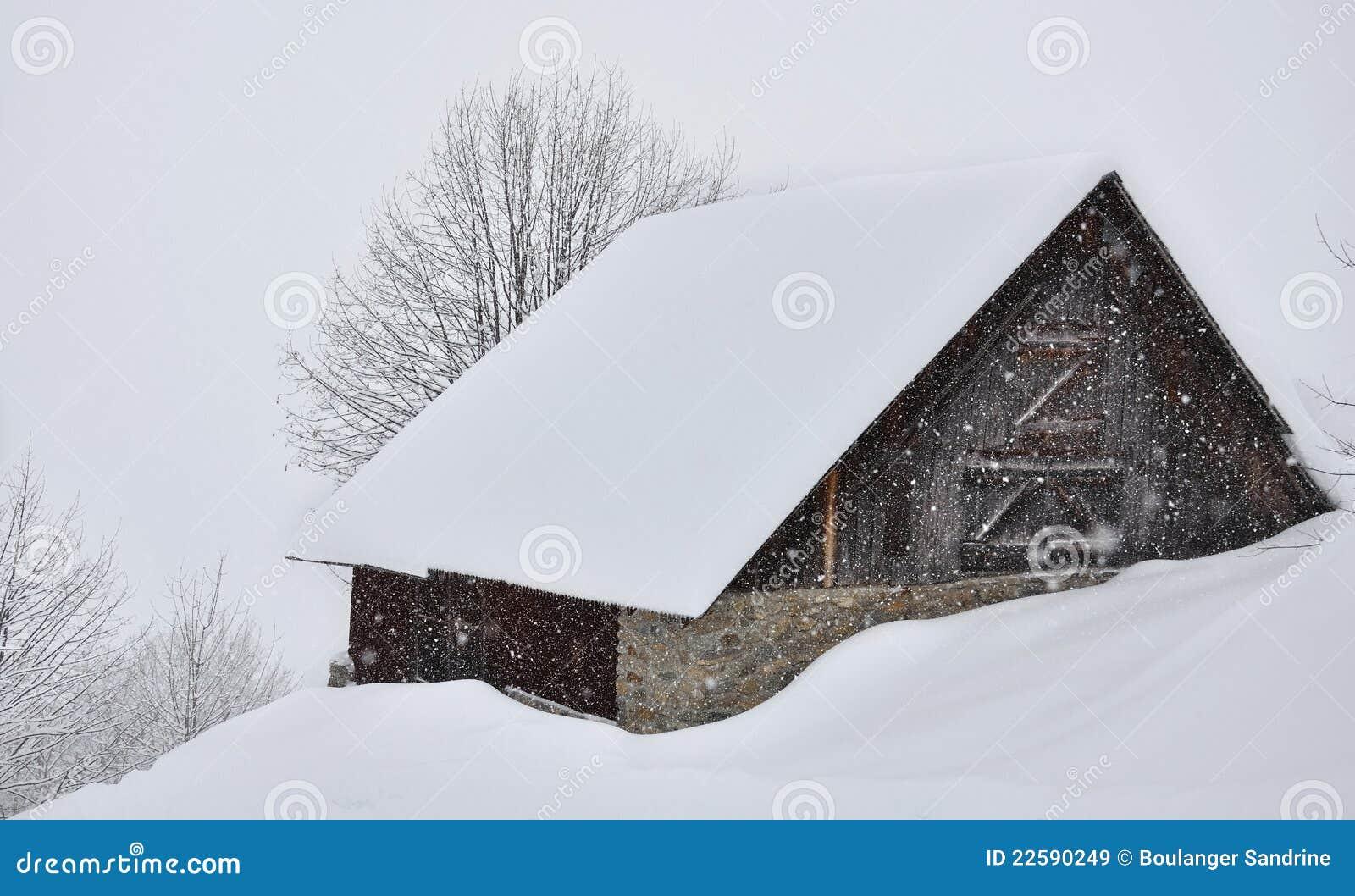 Chalet in de sneeuw