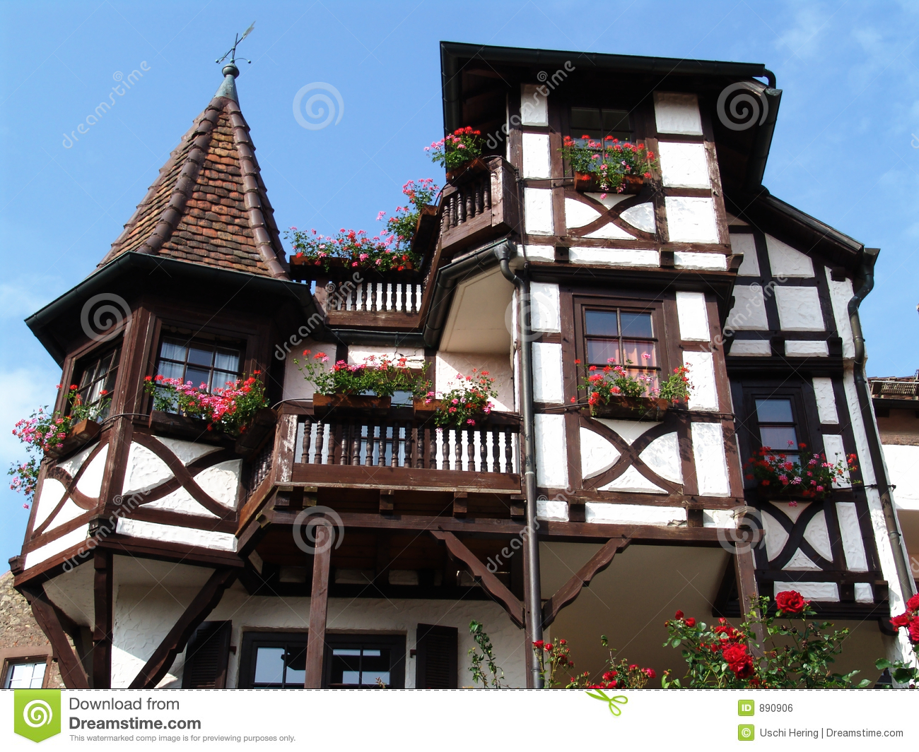 Chalet half-timbered