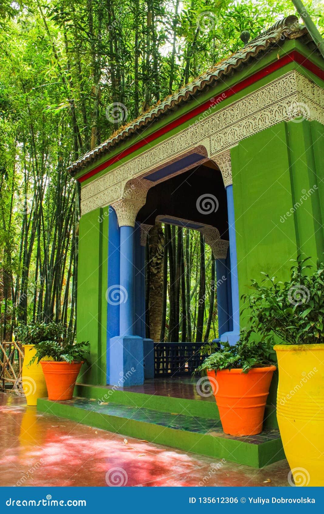 Chalet Majorelle en Marrakesh, Marruecos Patio del jardín