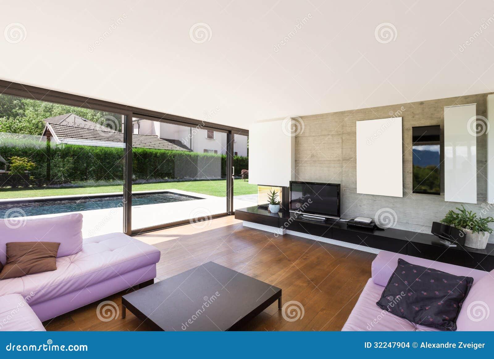 Chalet moderno interior sala de estar imagenes de archivo imagen 32247904 - Fotos chalets modernos ...