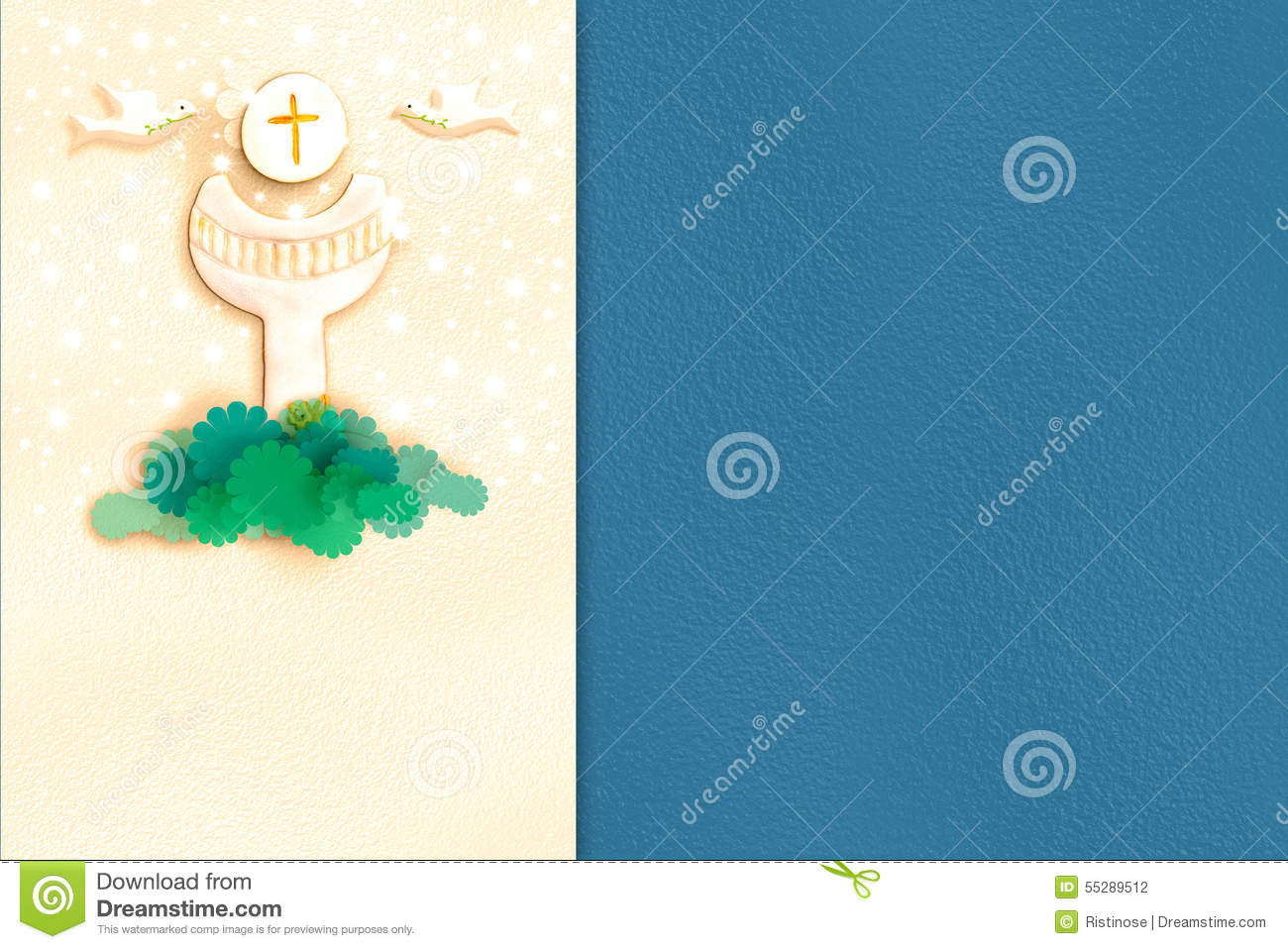 Chalice First Holy Communion invitation card