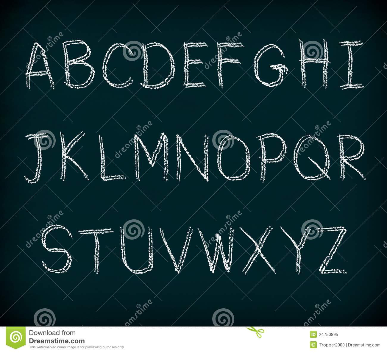 Chalk Alphabet Writing Royalty Free Stock Photo Image
