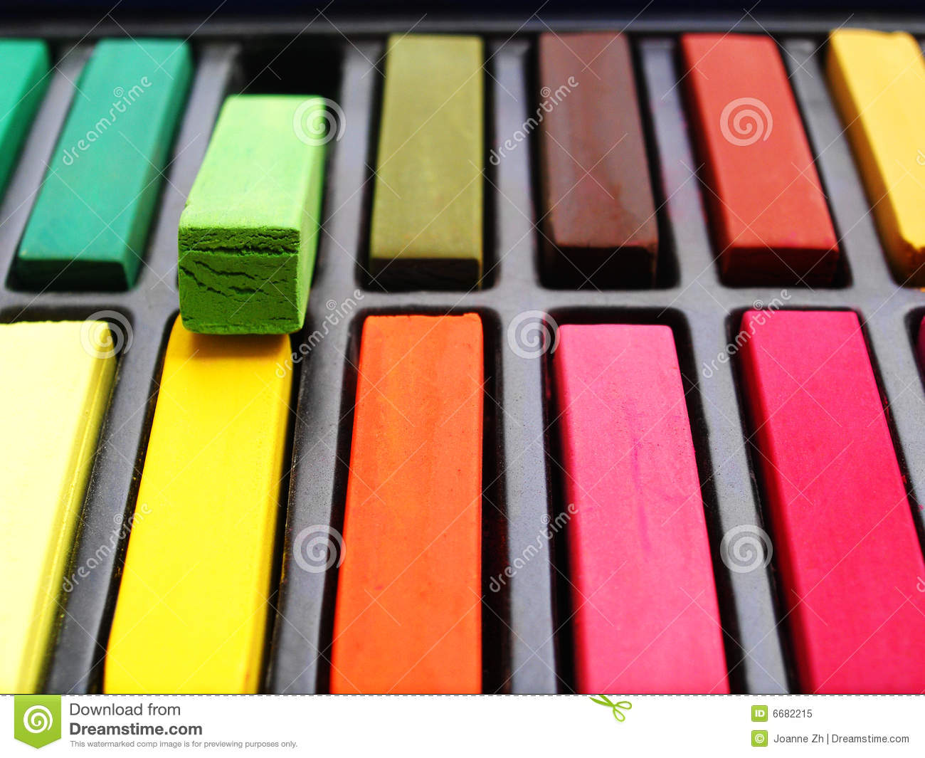 Chalk Artist Pastels Colorful Royalty Free Stock Photo