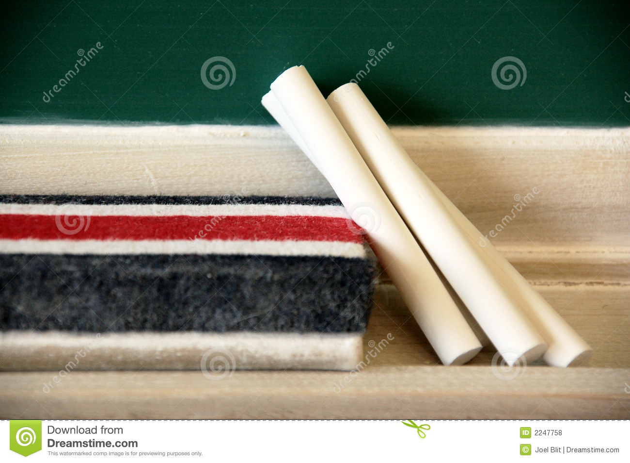 chalk and blackboard eraser stock photo image of university