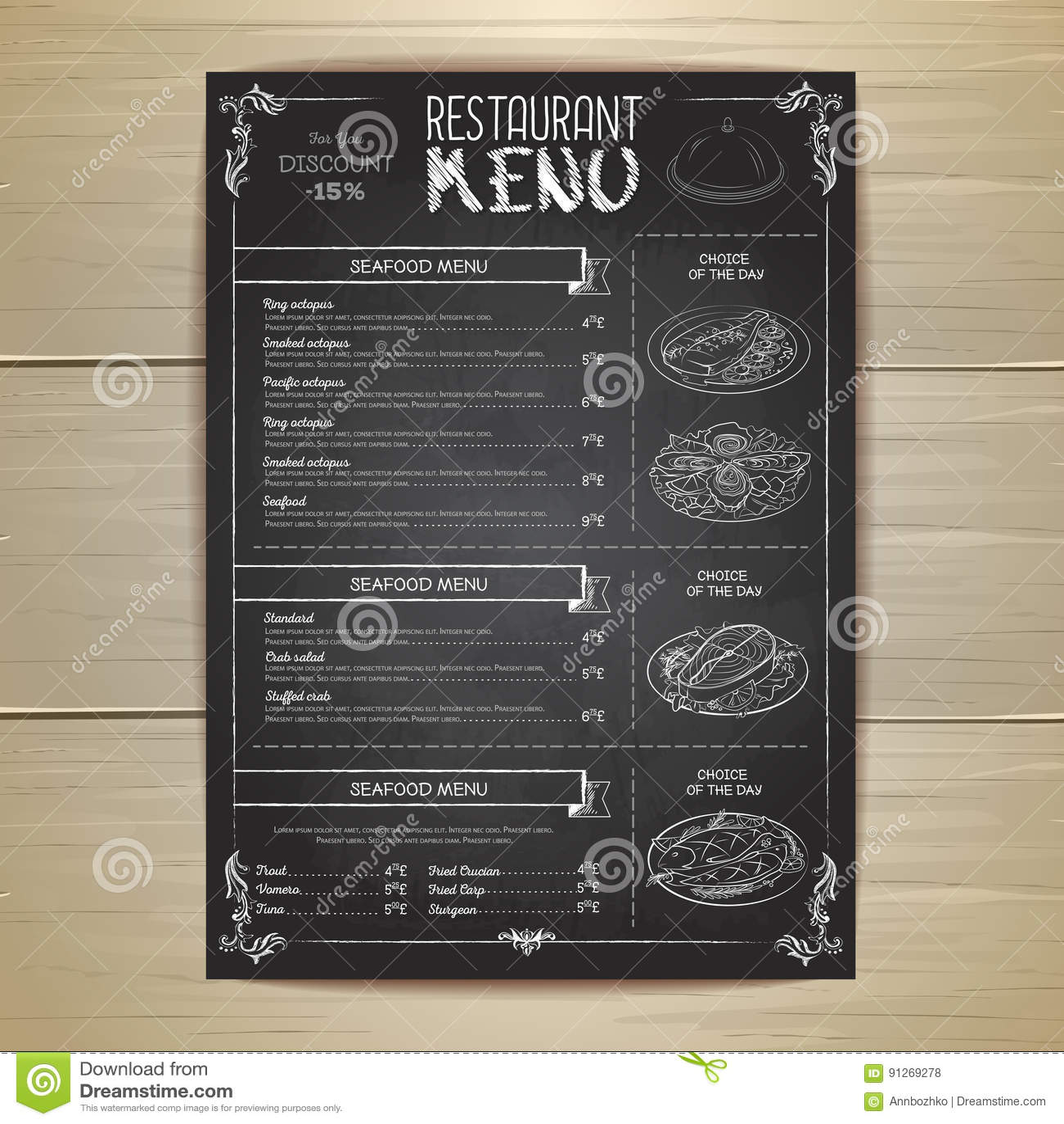 chalk drawing restaurant menu design stock vector illustration of