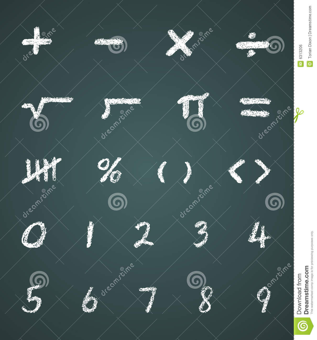 Chalk vector math symbols and numbers stock vector illustration chalk vector math symbols and numbers biocorpaavc