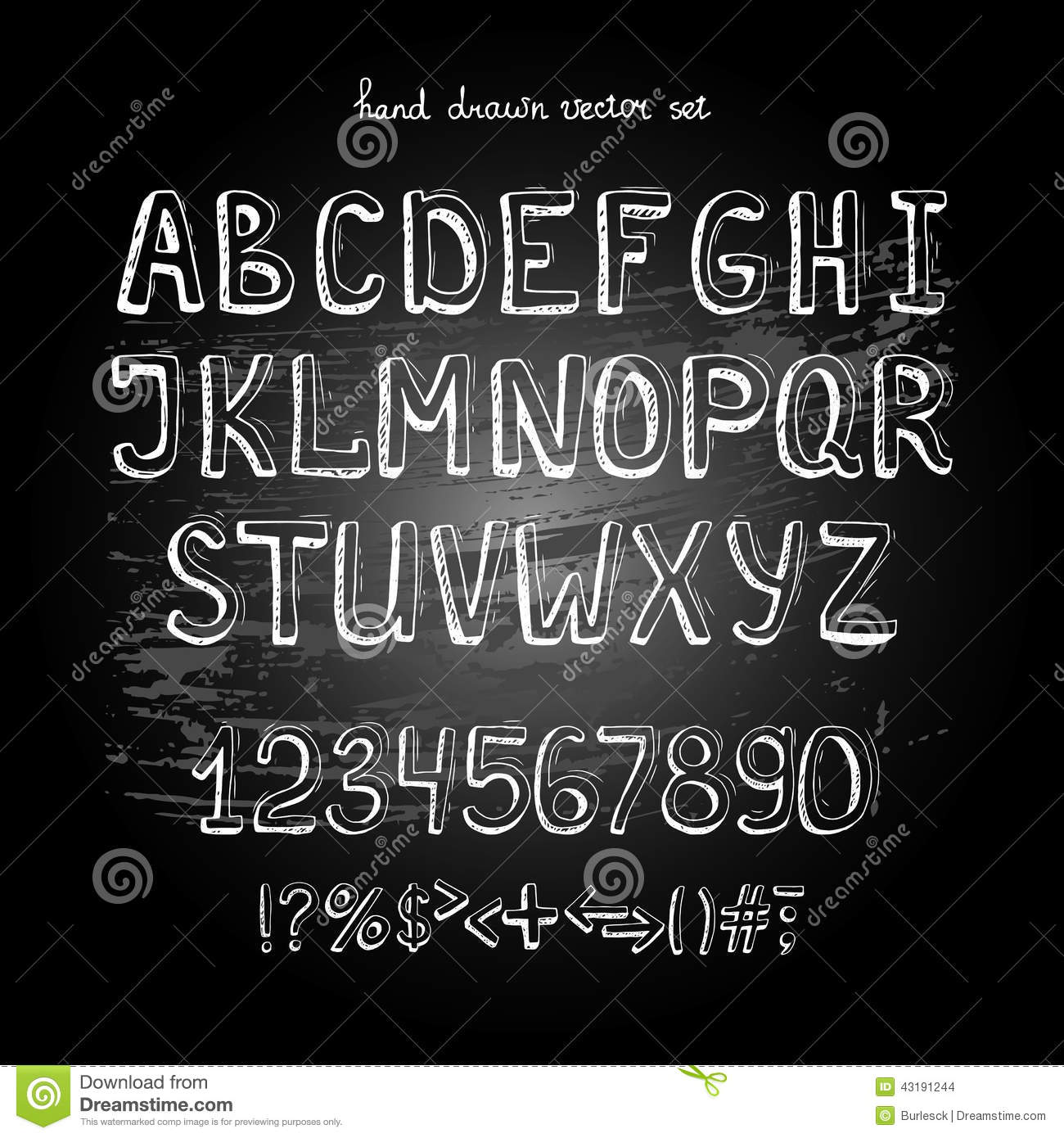 Chalkboard alphabet stock vector image 43191244 for Blackboard with white removable letters