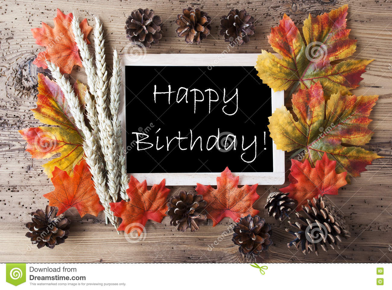 Happy Birthday Fall Theme