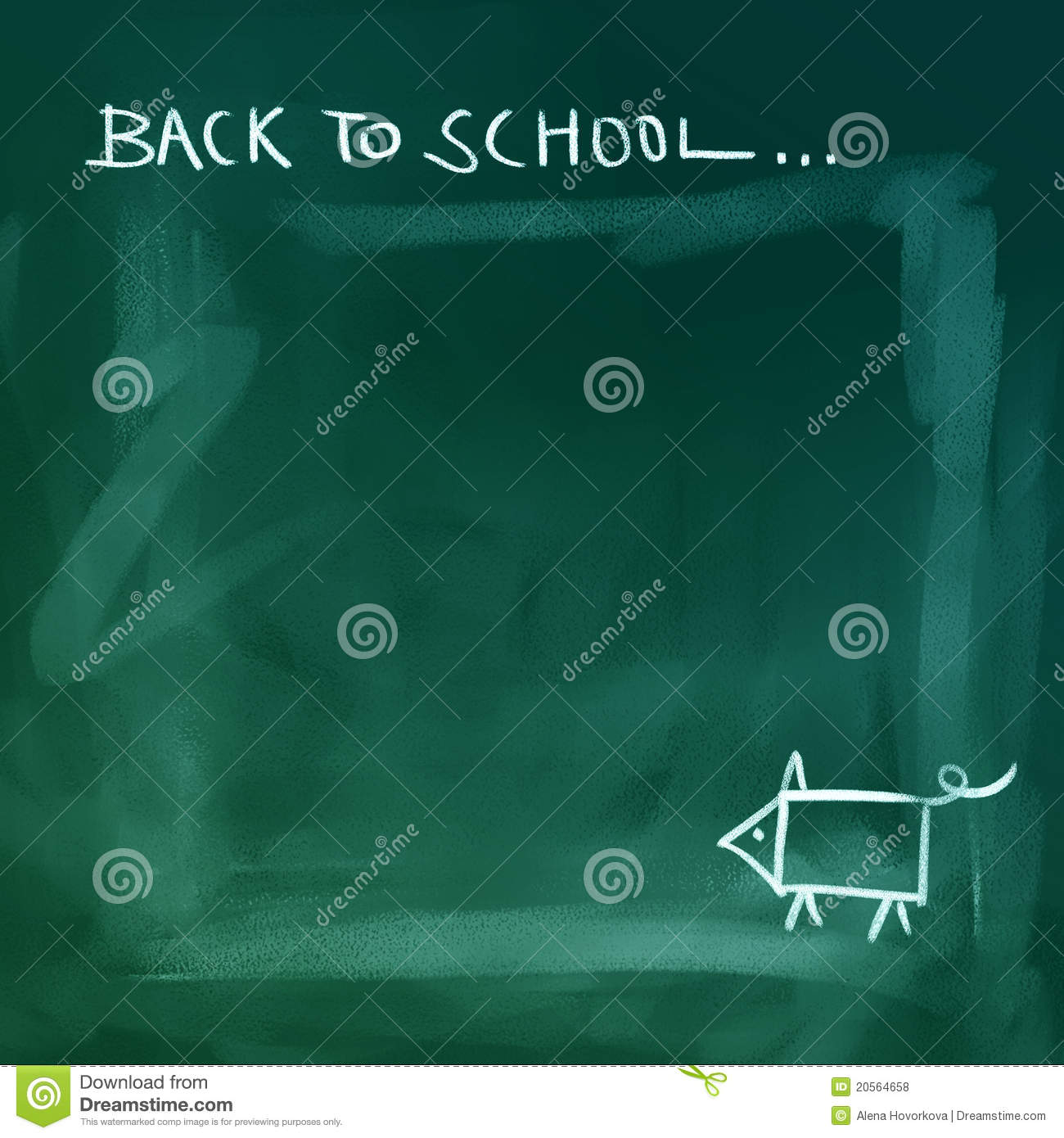 Chalkboard Background Back To School Royalty Free Stock