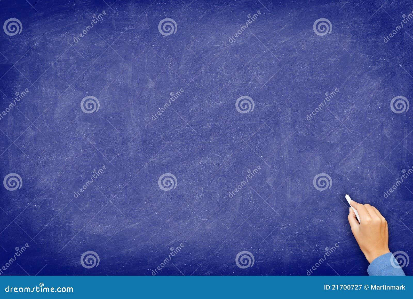 chalkboard blue blackboard with hand stock image image of blue