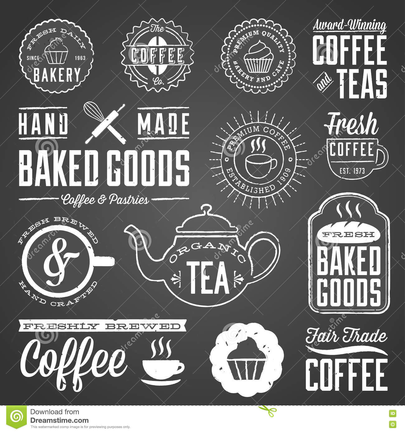 Chalkboard Designs Chalkboard Cafe And Bakery Designs Stock Vector Image 72574691