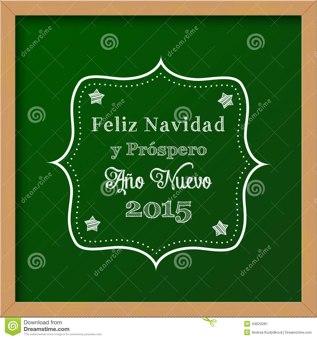 Chalkboard with christmas greeting in spanish stock vector chalkboard with christmas greeting in spanish kristyandbryce Images