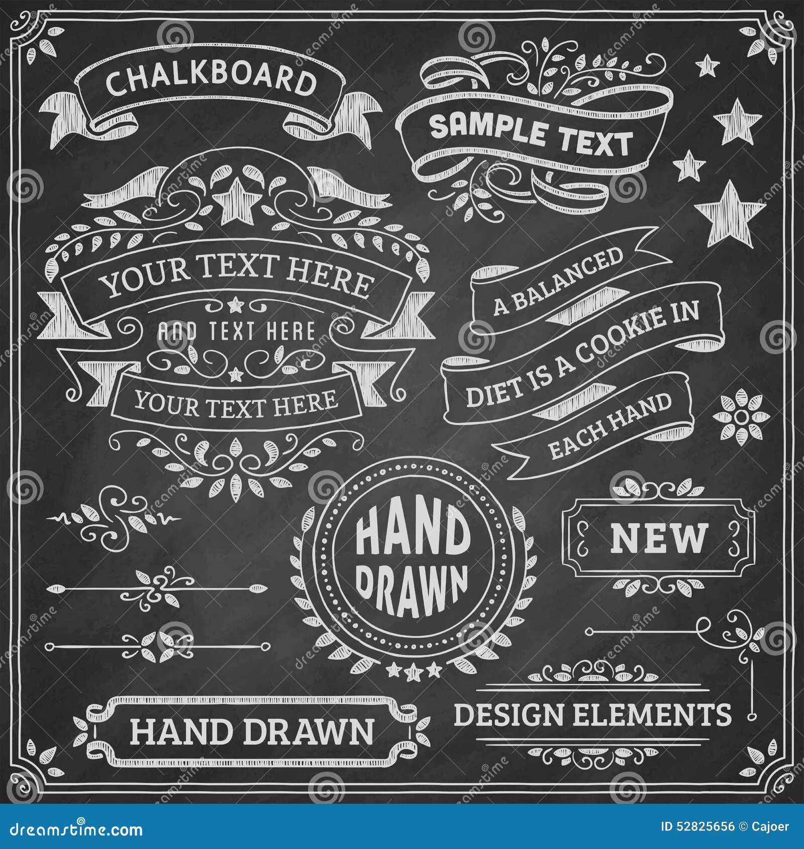 chalkboard design elements stock vector illustration of
