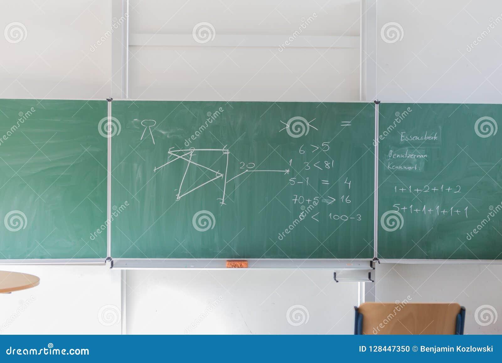 Chalkboard with mathematical formula