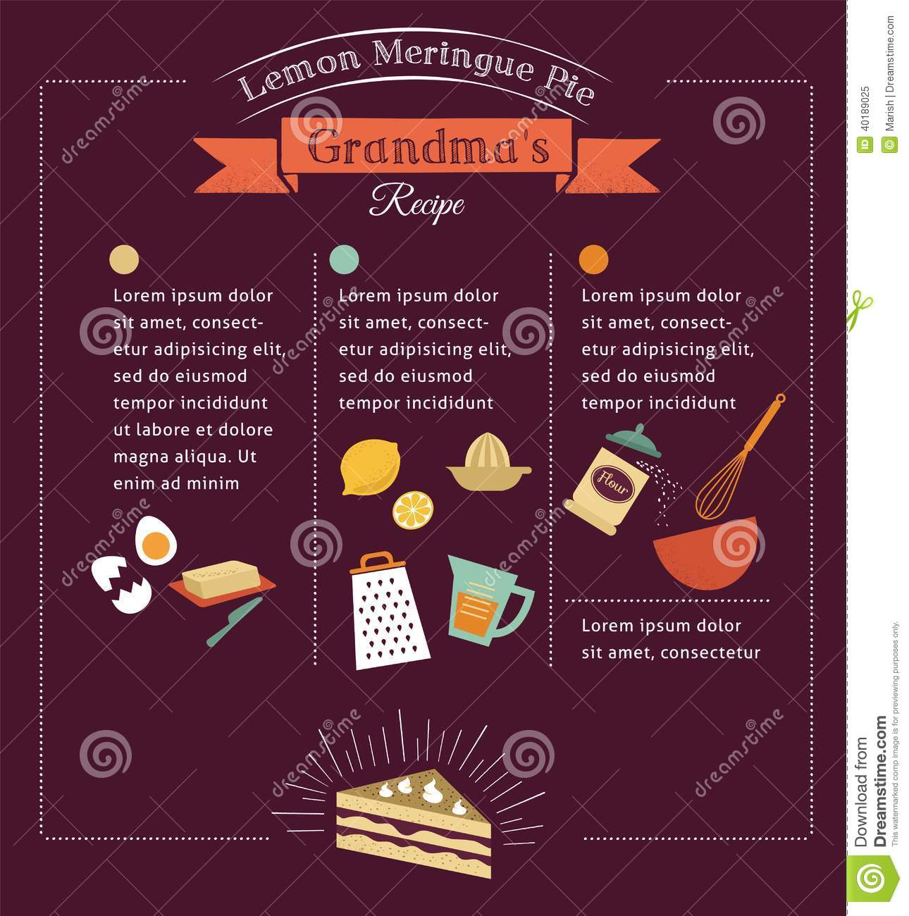 Chalkboard Meal Recipe Template Vector Design Stock Vector ...