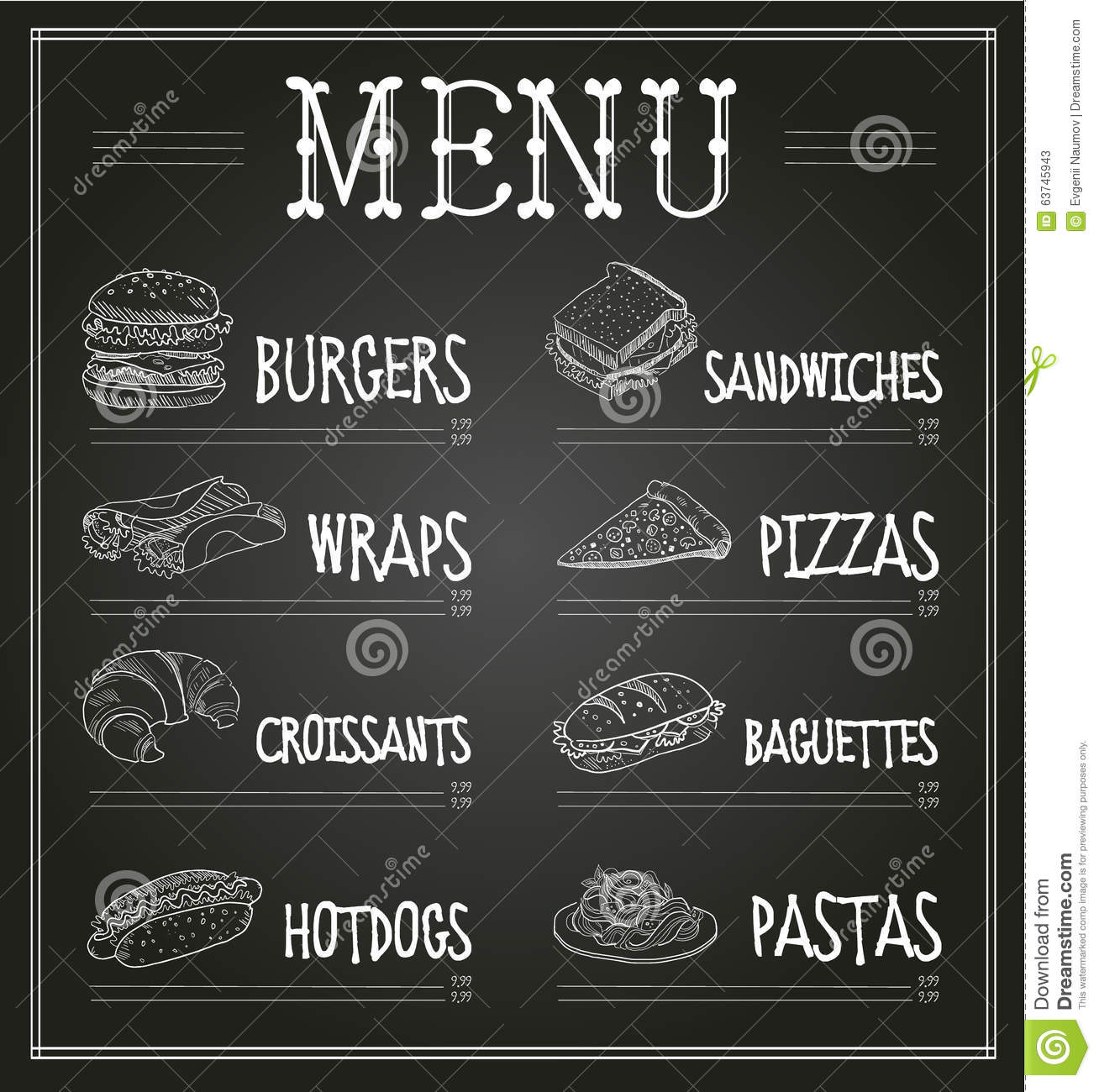 free chalkboard template for word