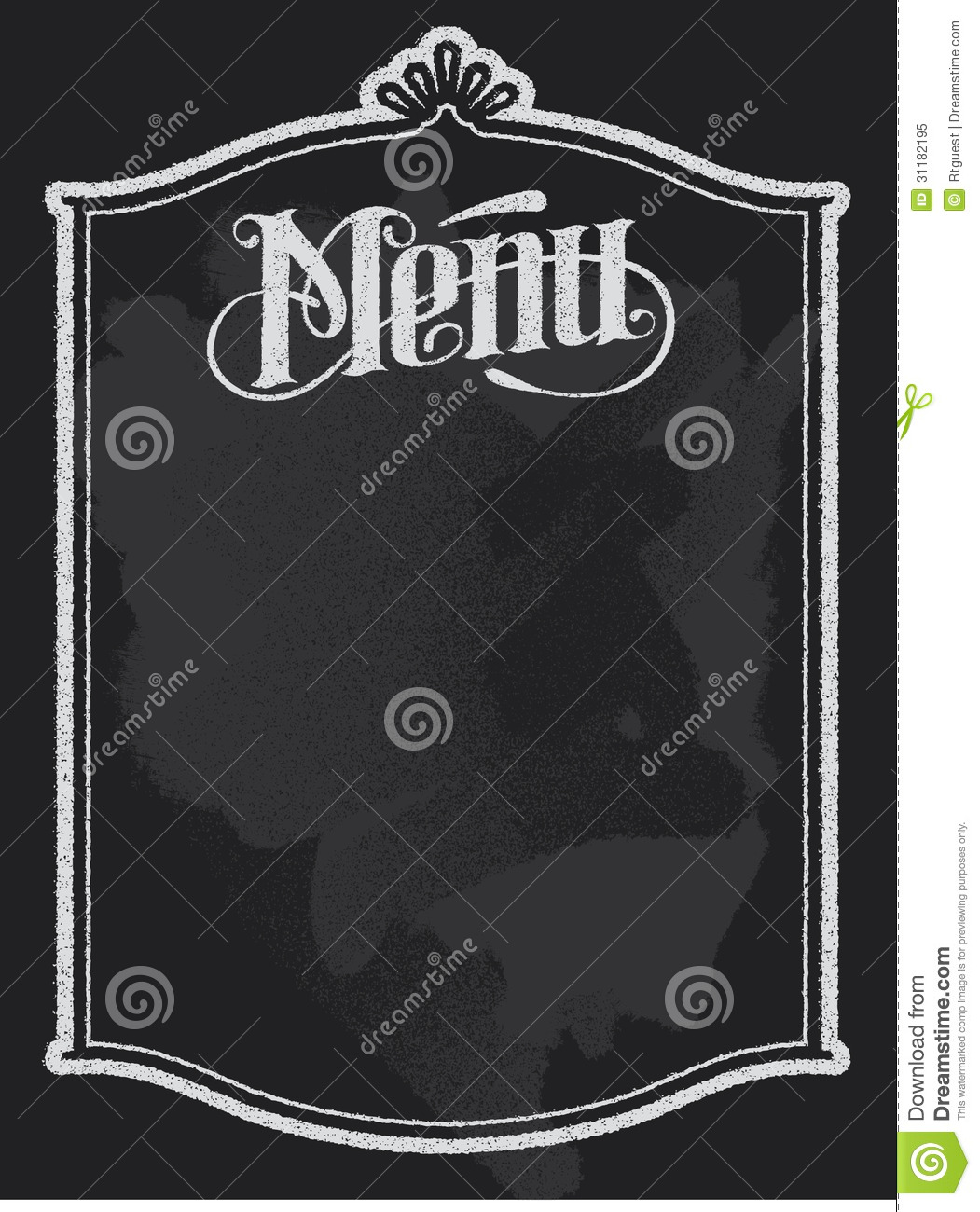 Chalkboard Menu Royalty Free Stock Photo - Image: 31182195 Vintage Border Vector