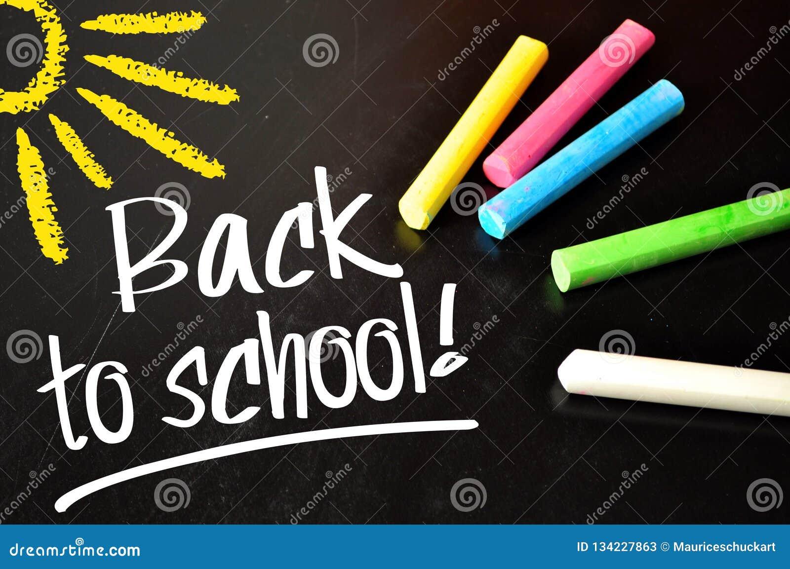 Chalkboard z z powrotem szkoła