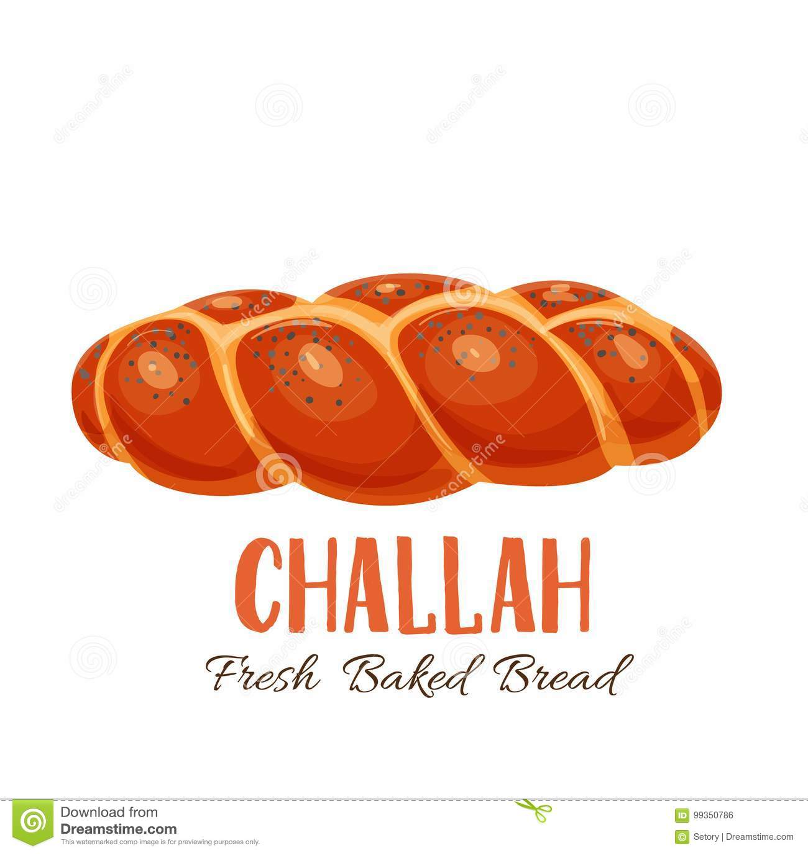 Challah bread icon