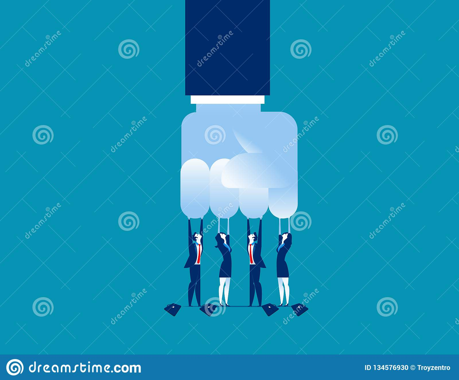Challenge. Small challenge big business. Concept business vector illustration