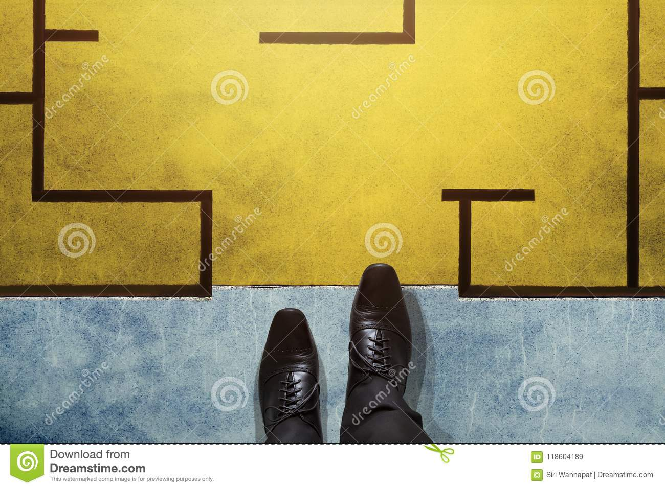 Challenge, Strategy and Leadership Concept. Top View of Business