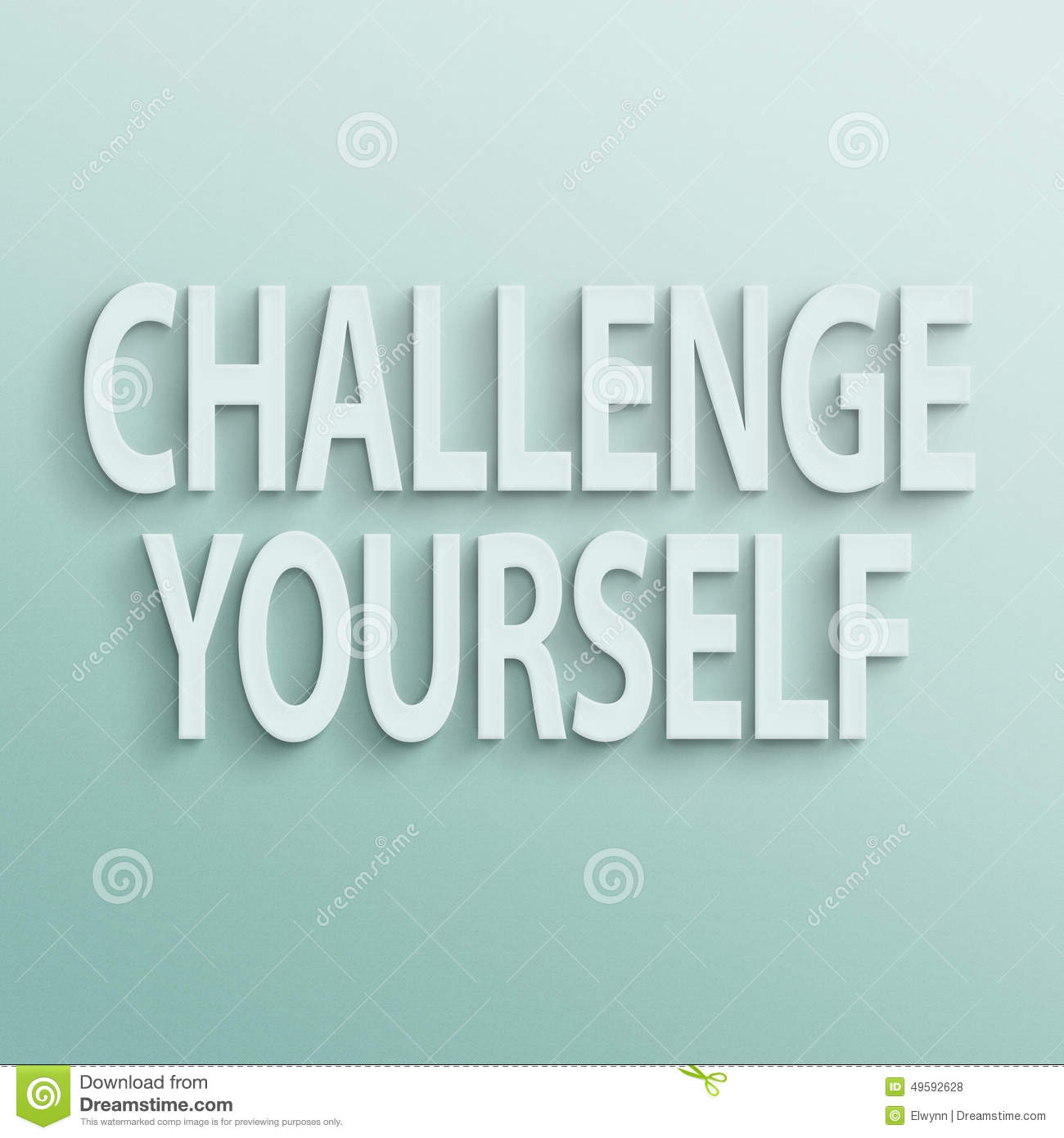 Challenge Yourself Stock Illustration - Image: 49592628