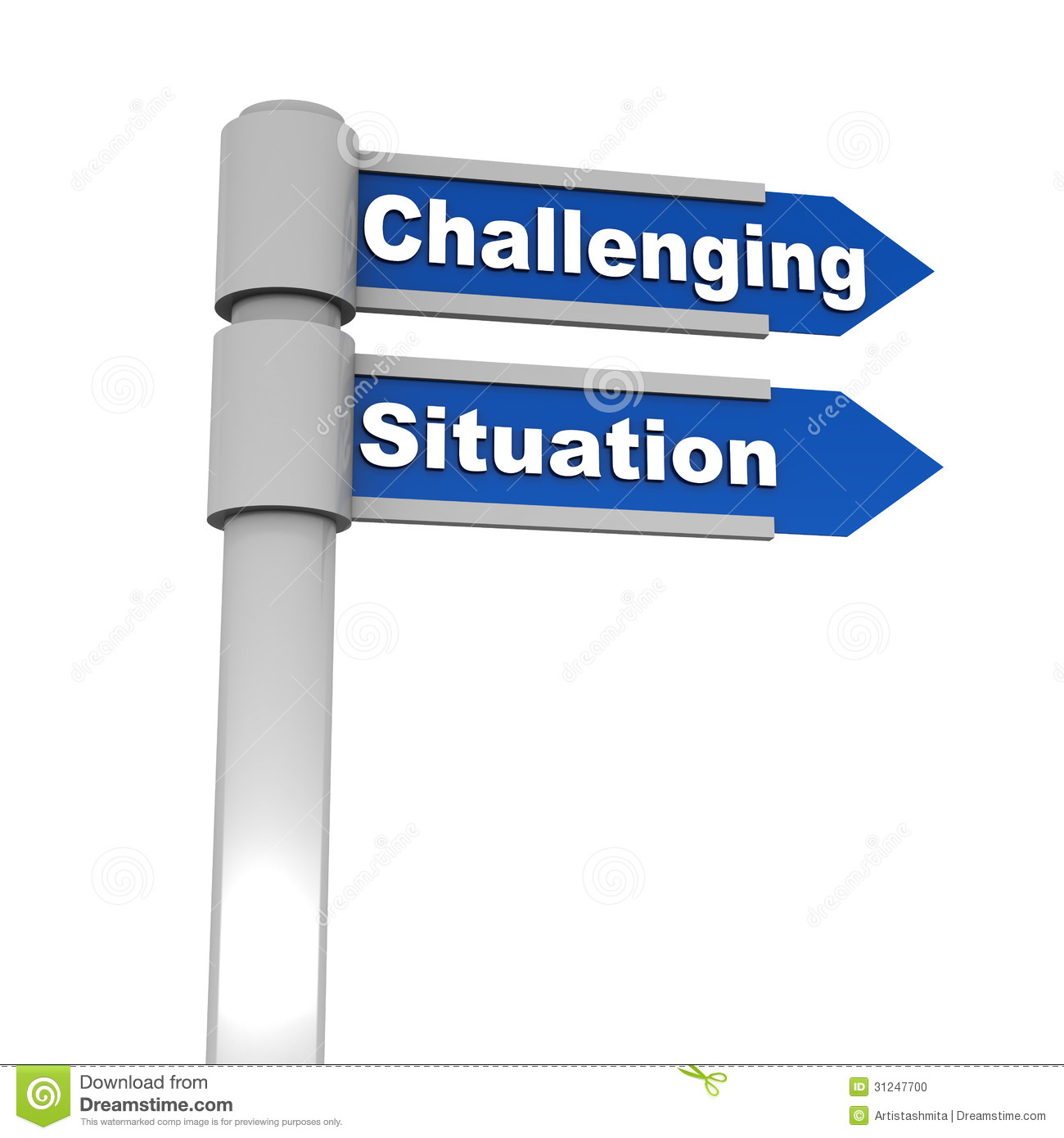 challenging situation stock photo image  challenging situation