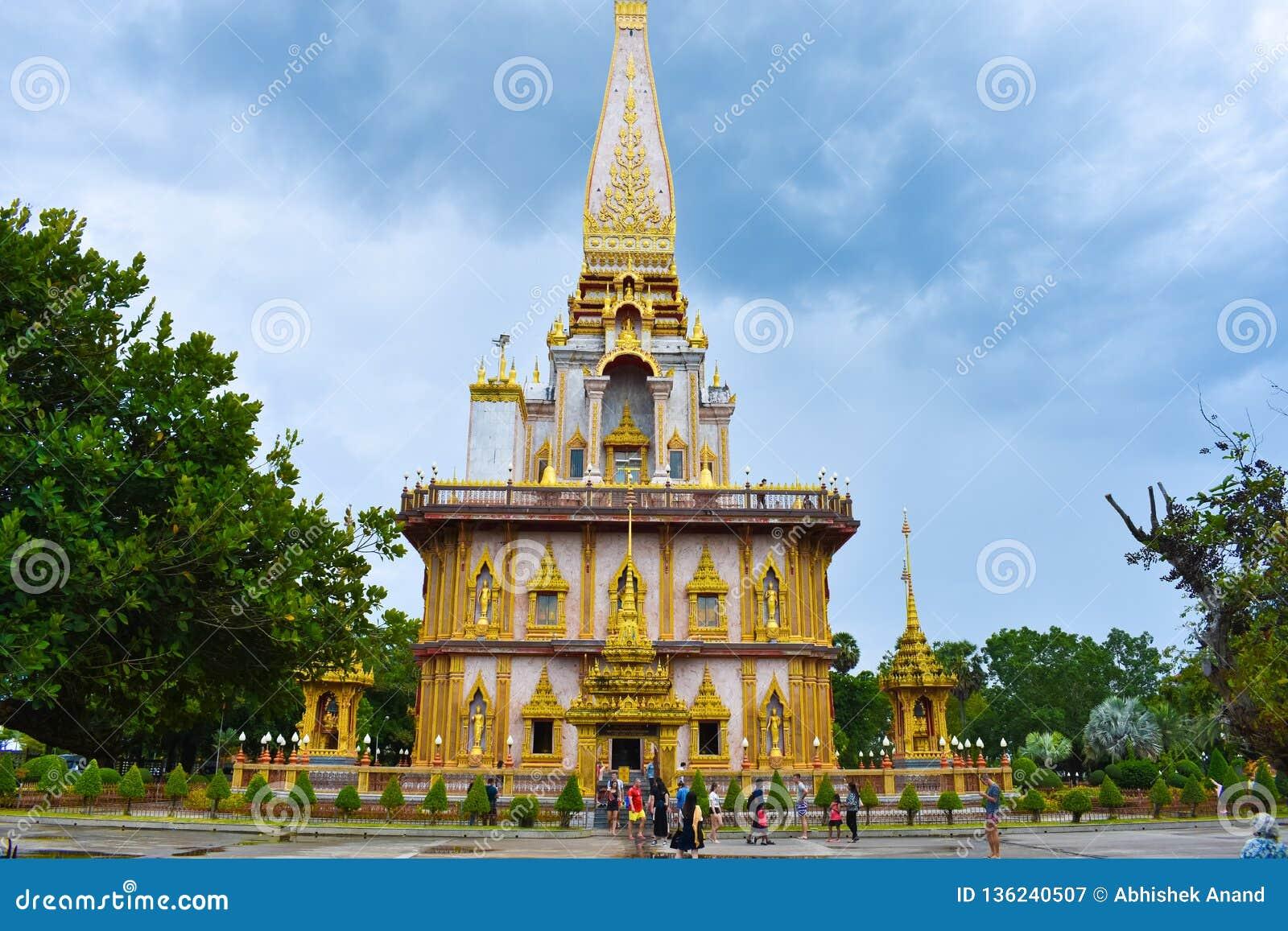 Chalong buddyjskiego Thailand wat świątyni