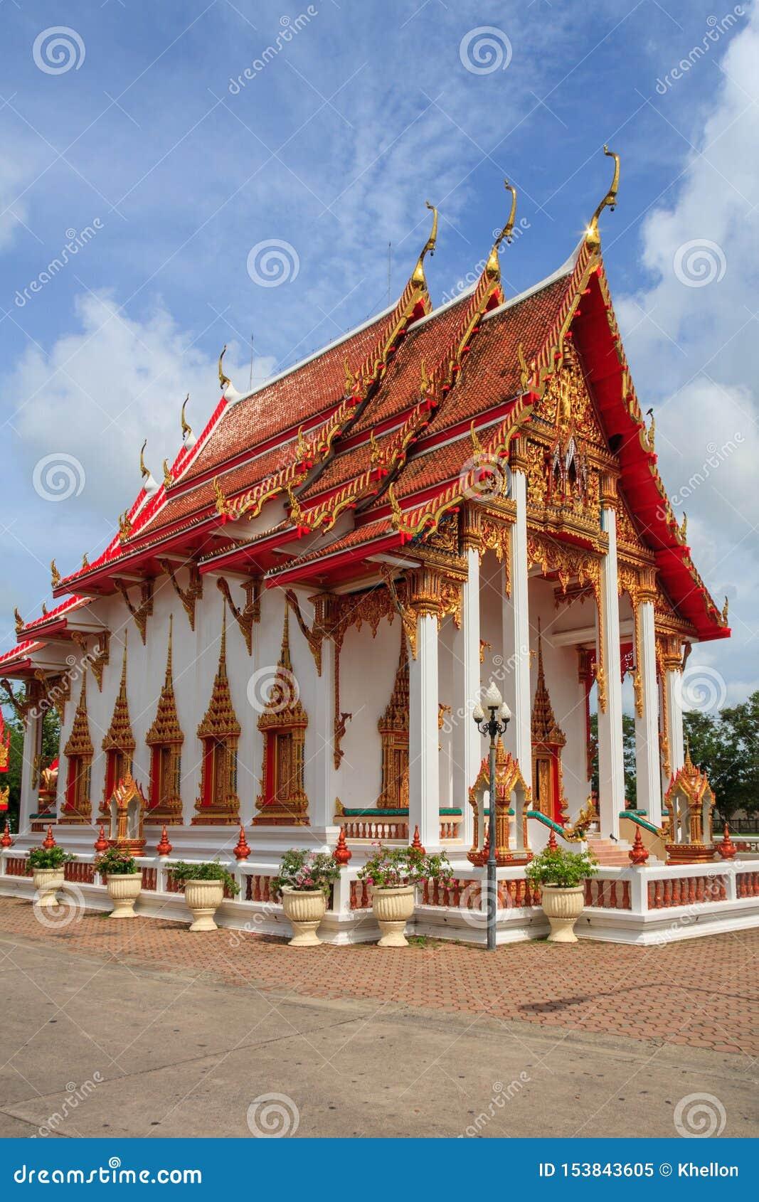 Chalongtempel, Phuket, Thailand, wat