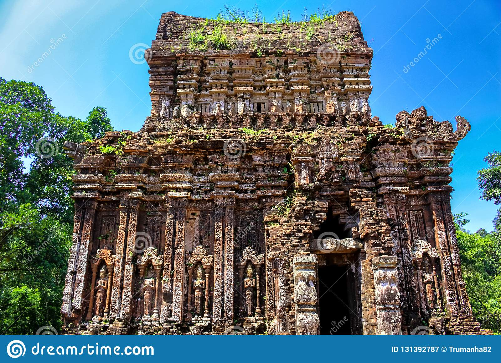 Cham-Tempel-Ruinen in Vietnam