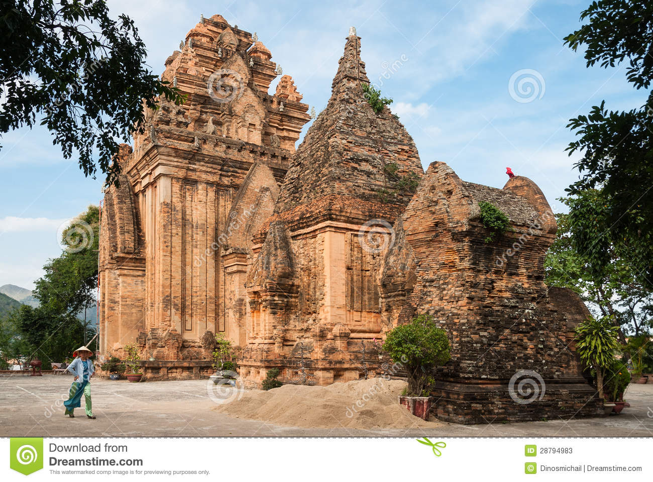 The Cham Towers in Vietnam