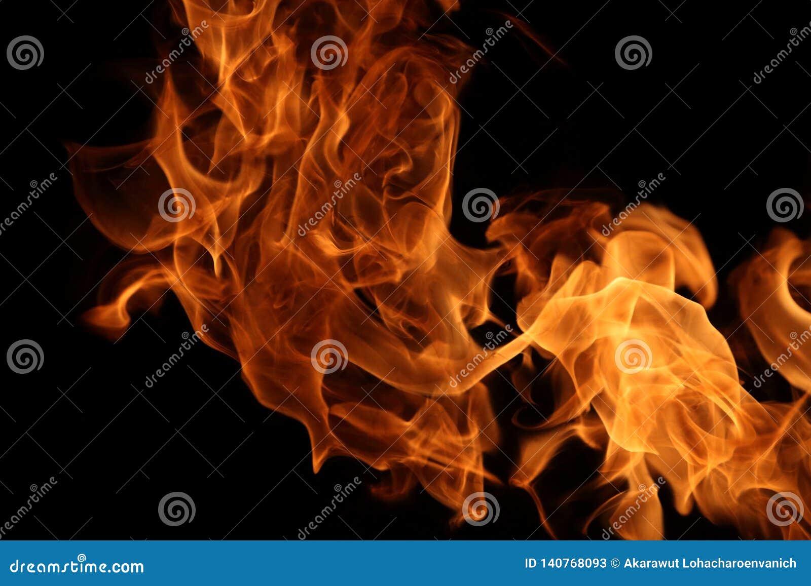 Chama de queimadura no fundo escuro para o projeto gráfico abstrato