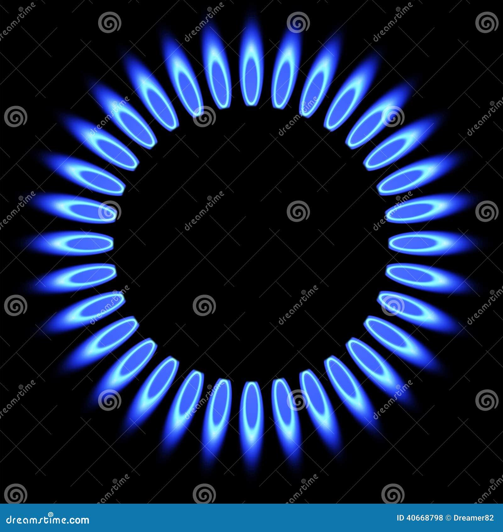 Chama do g s natural queimador do fog o de g s ilustra o for Imagenes de gas natural