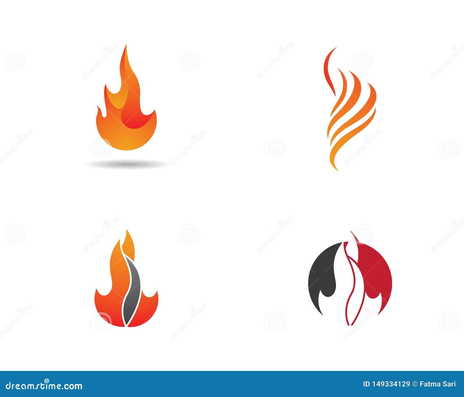 Chama Logo Template do fogo